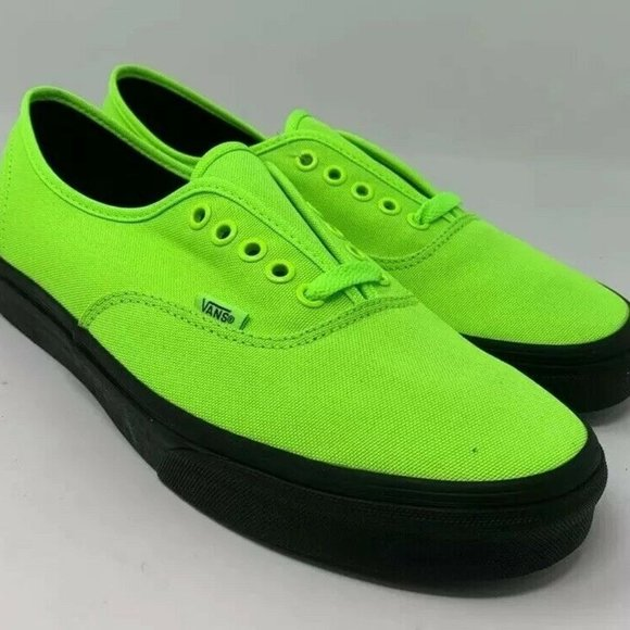 Authentic Neon Green Black Outsole Lace